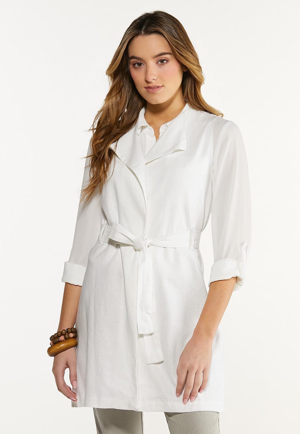 Belted Linen Vest