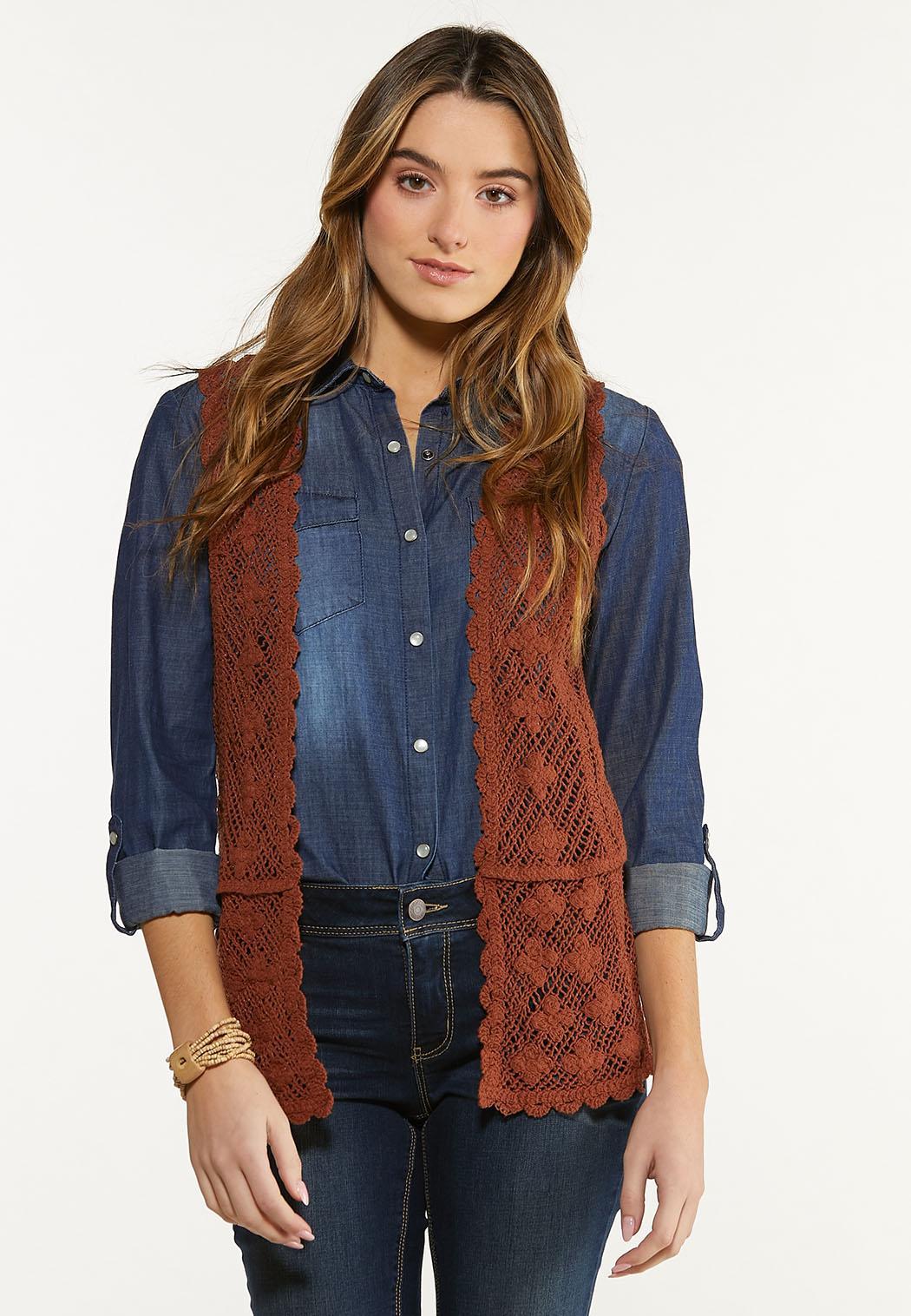 Brown Crochet Vest