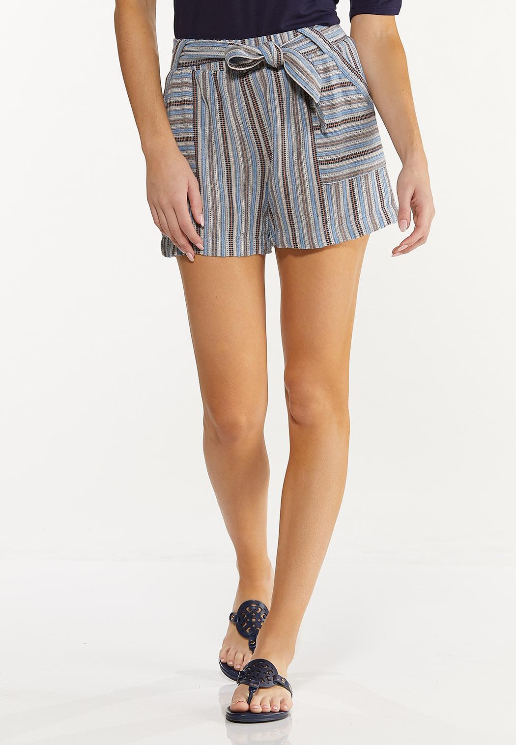 Vintage Stripe Linen Shorts