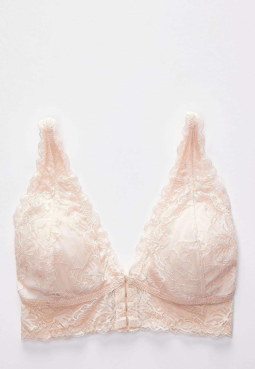 Plus Size Allover Lace Wire-Free Bra