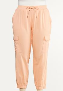 Plus Size Sweet Tangerine Utility Joggers