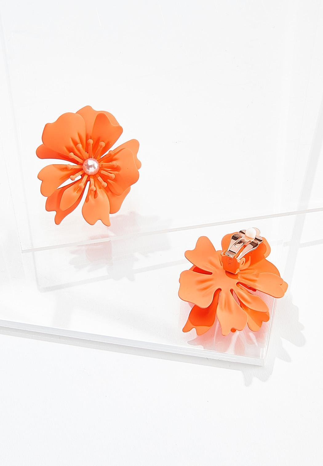 Flower Power Clip-On Earrings