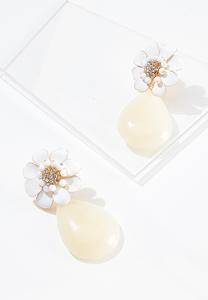 Flower Tear Stone Earrings