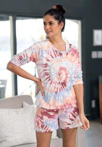 Plus Size Tie Dye Lounge Shorts
