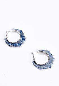 Blue Haze Hoop Earrings