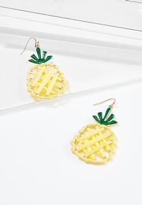 Woven Pineapple Earrings
