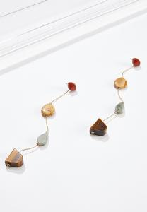 Mixed Stone Linear Earrings