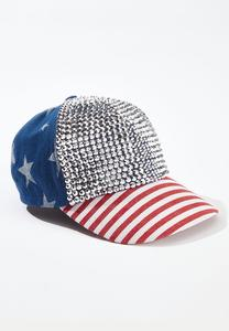 Americana Bling Baseball Hat