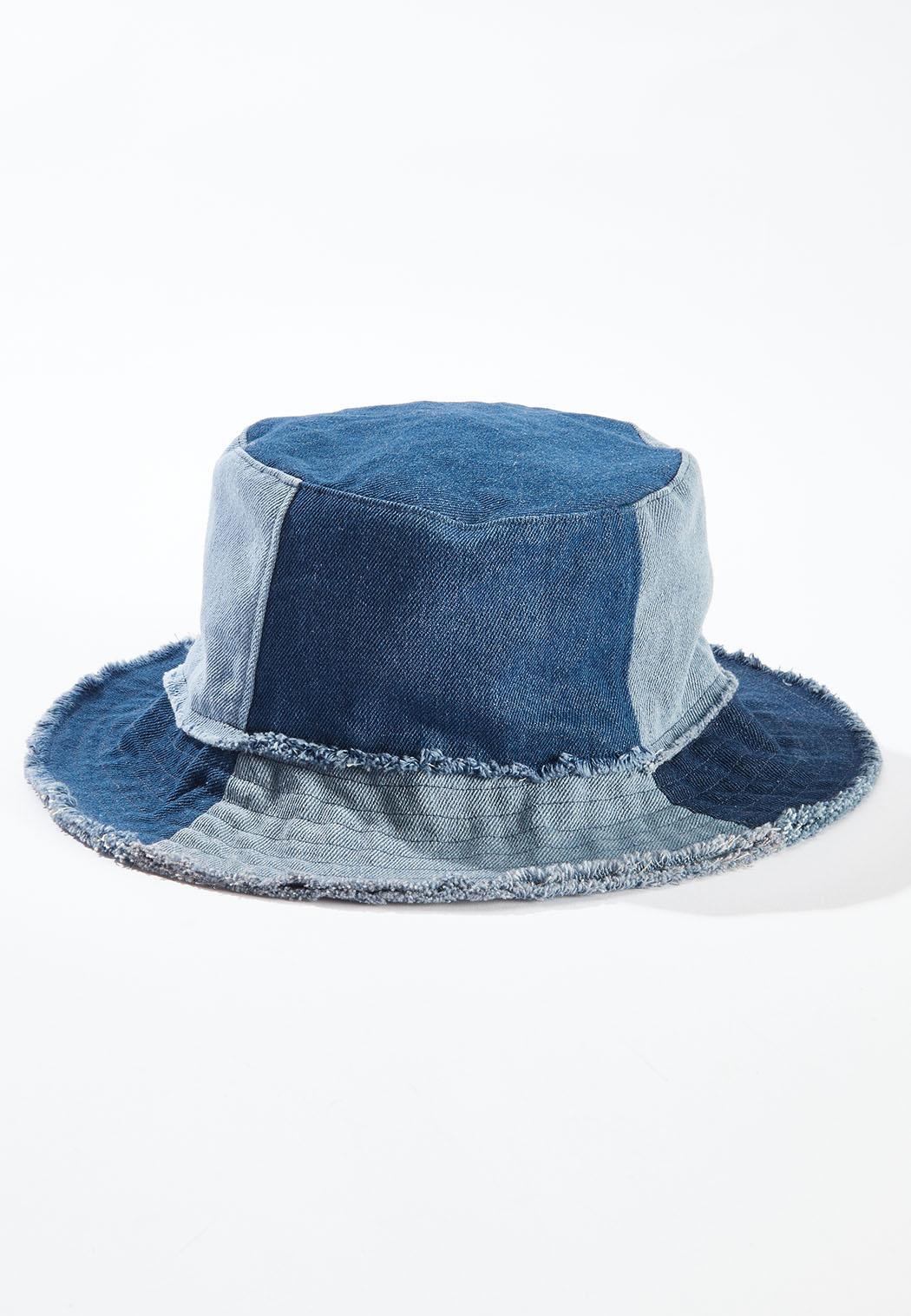 Patchwork Denim Bucket Hat