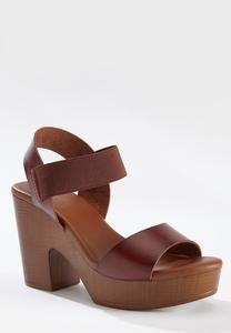 One Band Platform Sandals