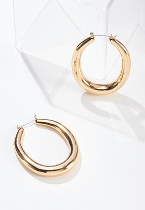 Large Thick Hoop Earrings