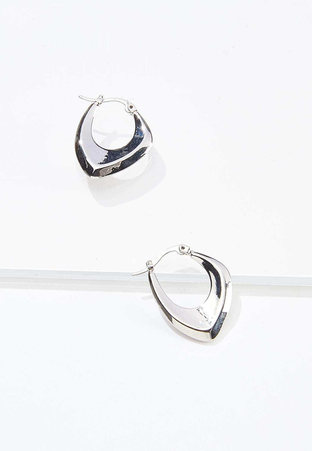 Modern Shape Hoop Earrings