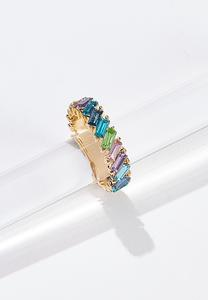 Multi Colored Glass Ring