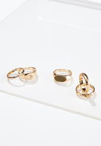 Gold Girl Ring Set