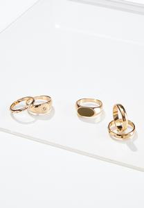 Gold Girl Ring Set