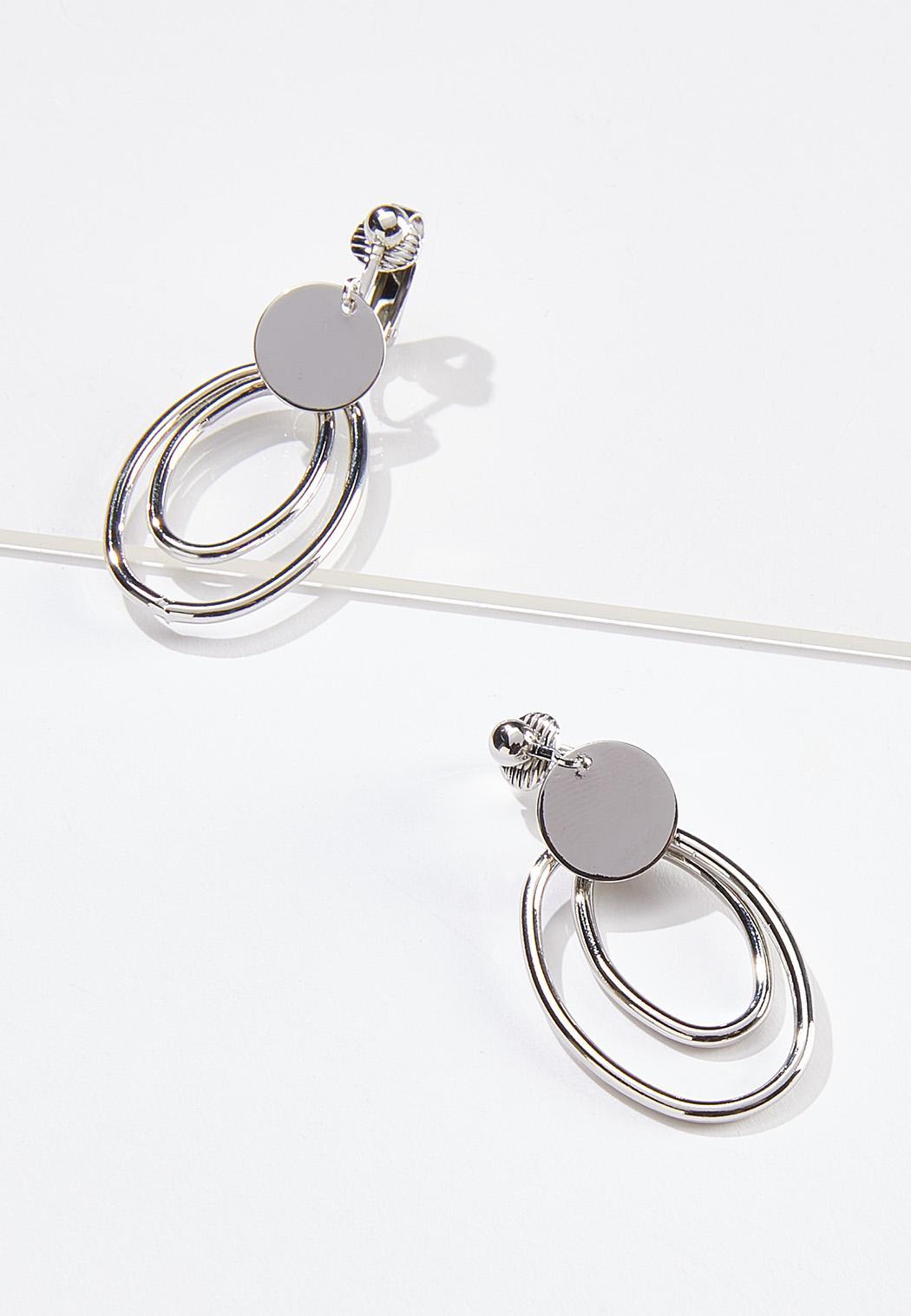 Double Oval Clip-On Earrings