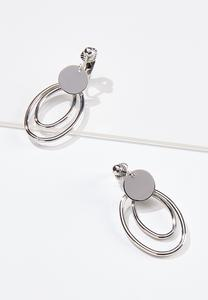 Double Oval Clip-On Earrings