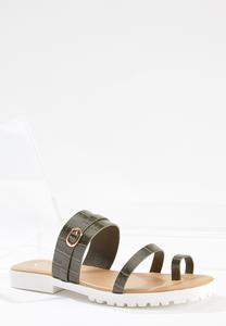 Croc Toe Loop Lug Slides