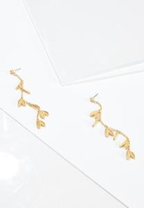 Shaky Leaf Chain Earrings