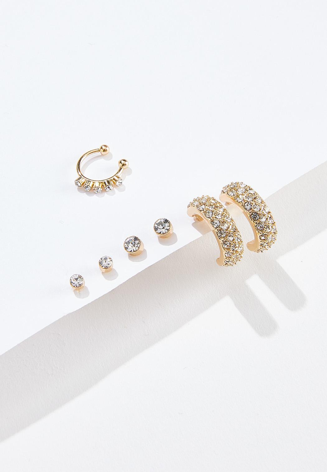 Gold Glitz Earring Set