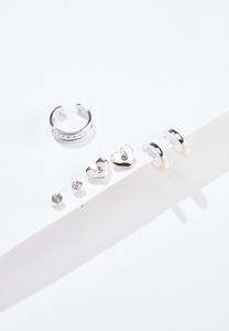 Silver Stud Earring Set