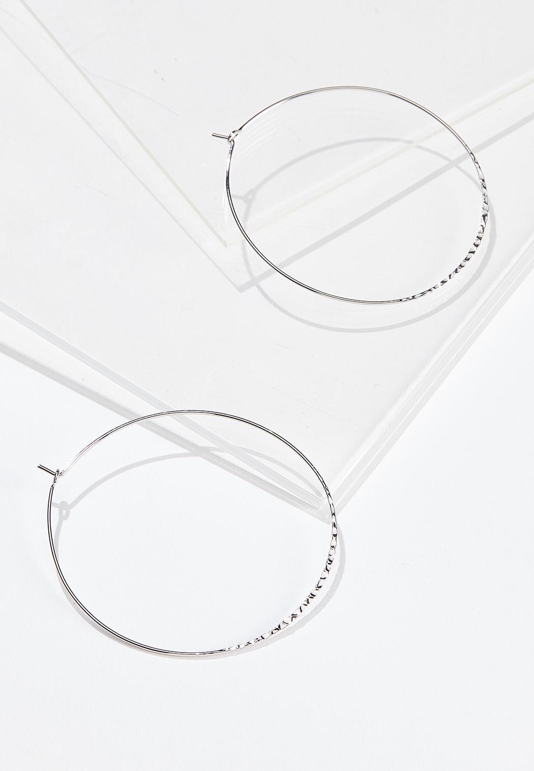 Extra Large Thin Hoop Earrings