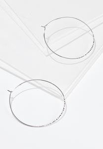 Extra Large Thin Hoop Earrings