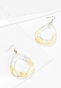 Lucite Cutout Earrings