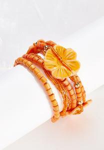 Hawaiian Wood Stretch Bracelet