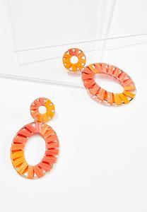 Raffia Oval Earrings