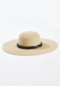 Black Chain Floppy Hat