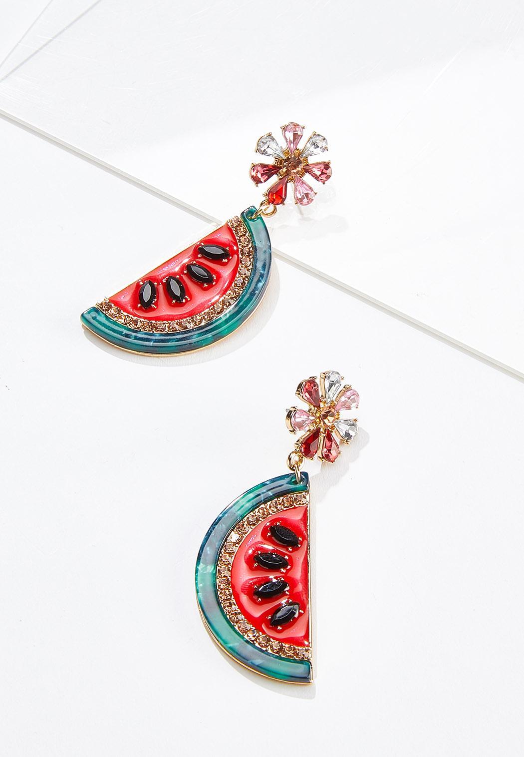 Lucite Watermelon Earrings