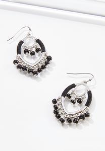 Black Shaky Bead Earrings