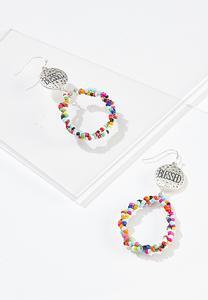 Blessed Rainbow Bead Earrings