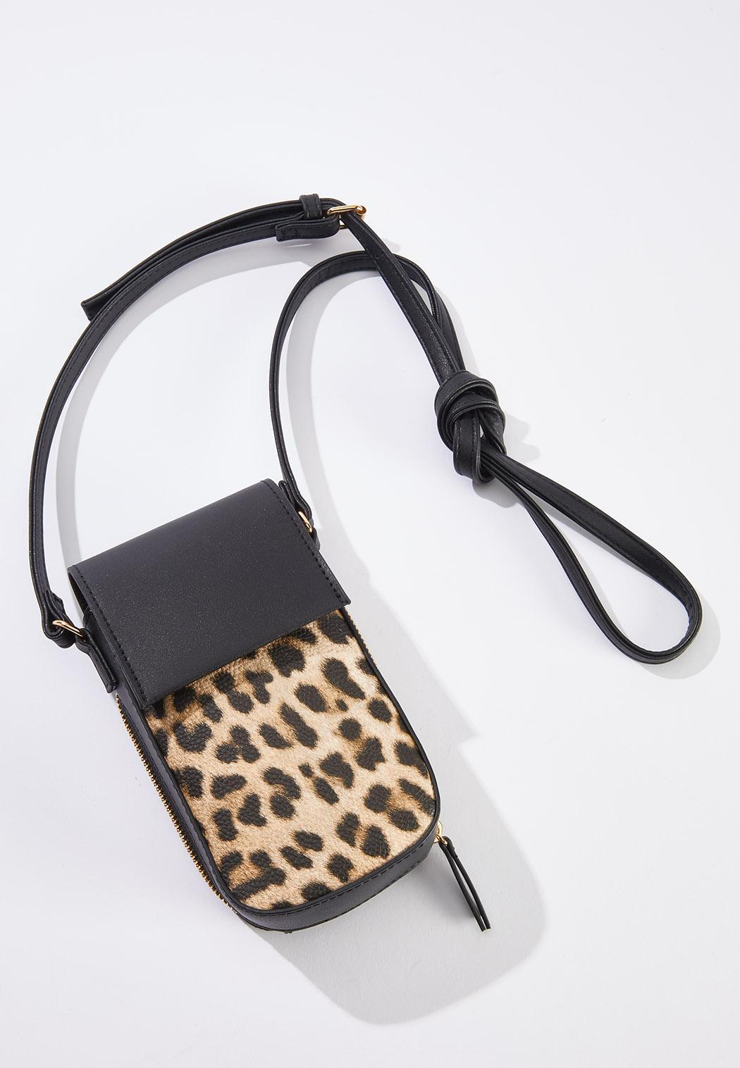 Leopard Panel Cellphone Crossbody