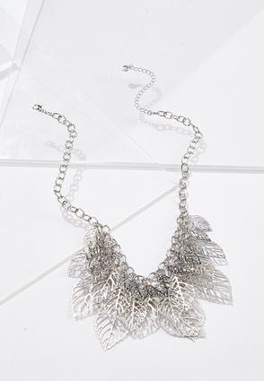 Layered Leaf Chain Necklace