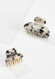 Marbled Claw Clip Set