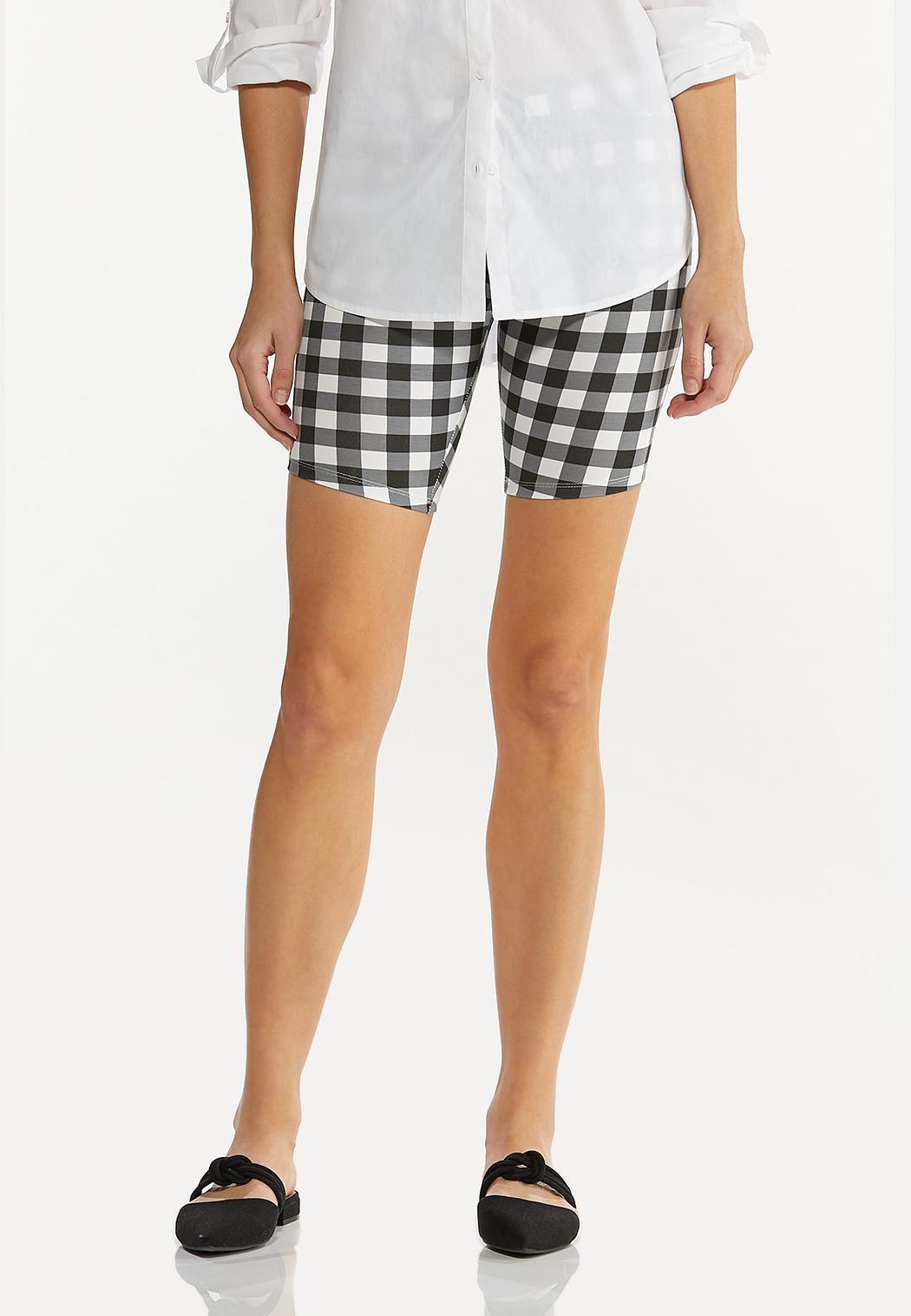 Gingham Biker Shorts