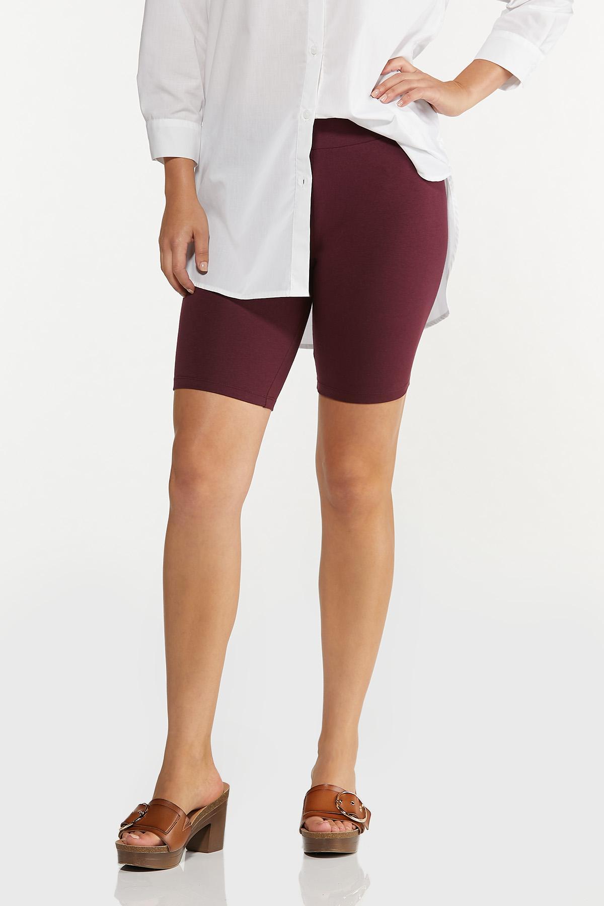 Solid Biker Shorts