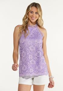 Lavender Lace Tank