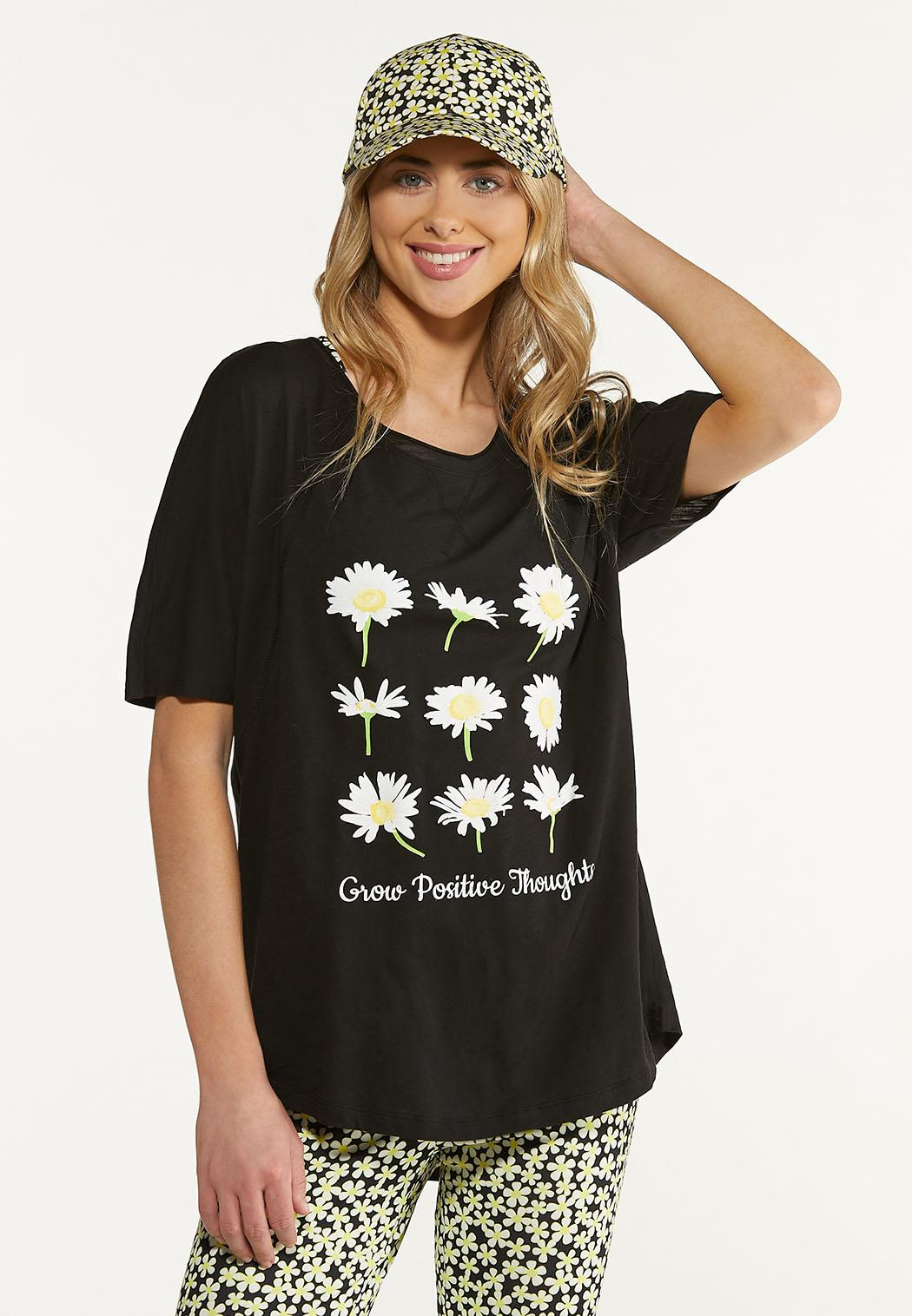 Plus Size Grow Positive Thoughts Tee