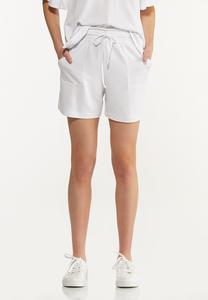 White Smocked Shorts