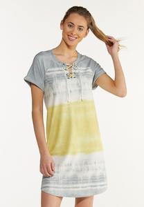 Plus Size Dip Dye French Terry Dress