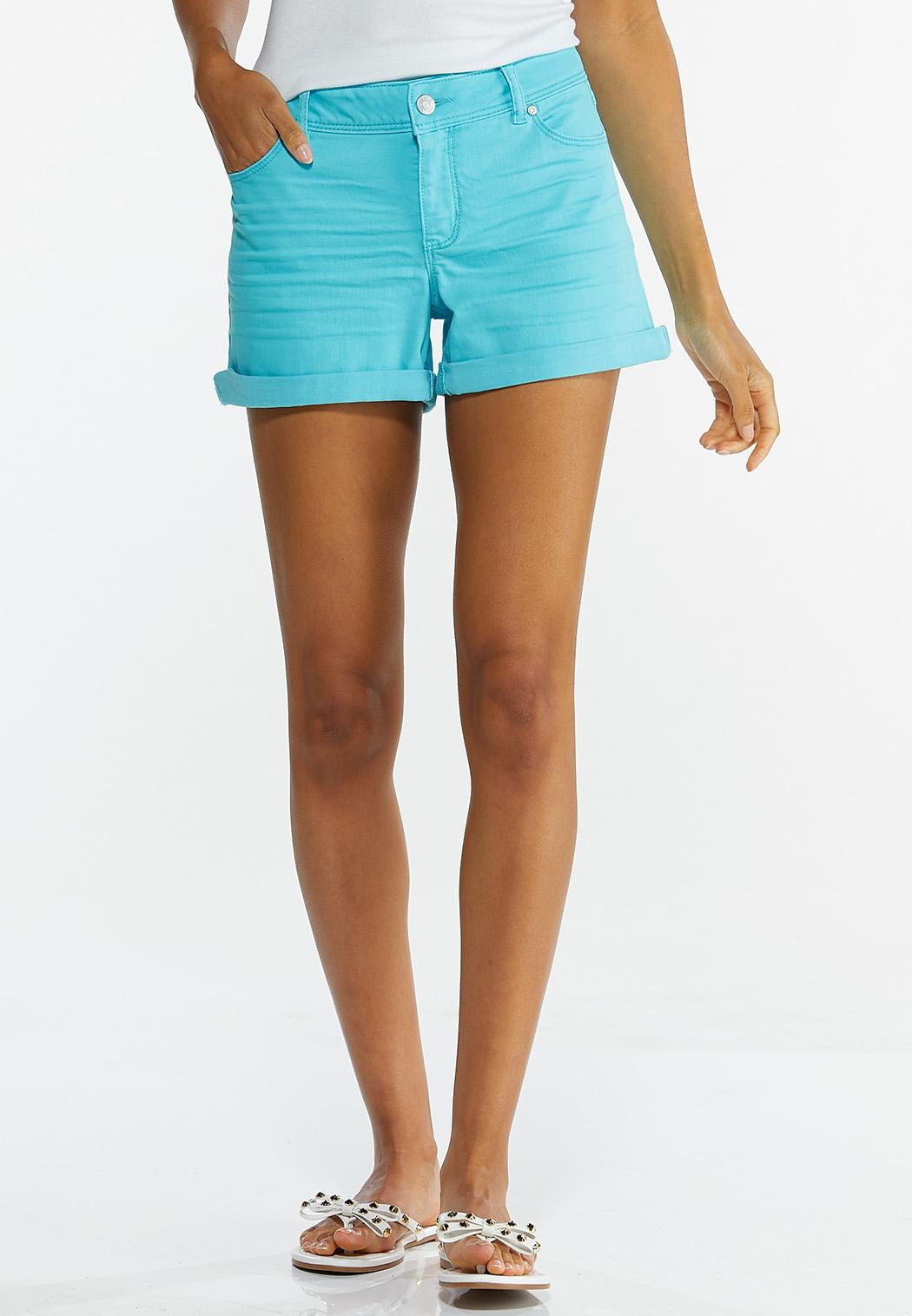 Colored Denim Shorts