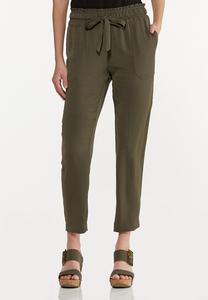 Olive Track Pants