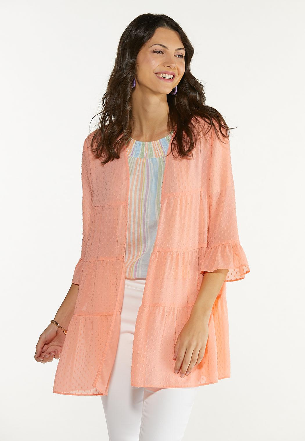 Clip Dot Coral Kimono