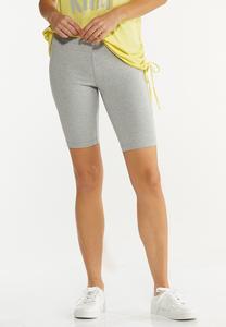 Heather Gray Biker Shorts