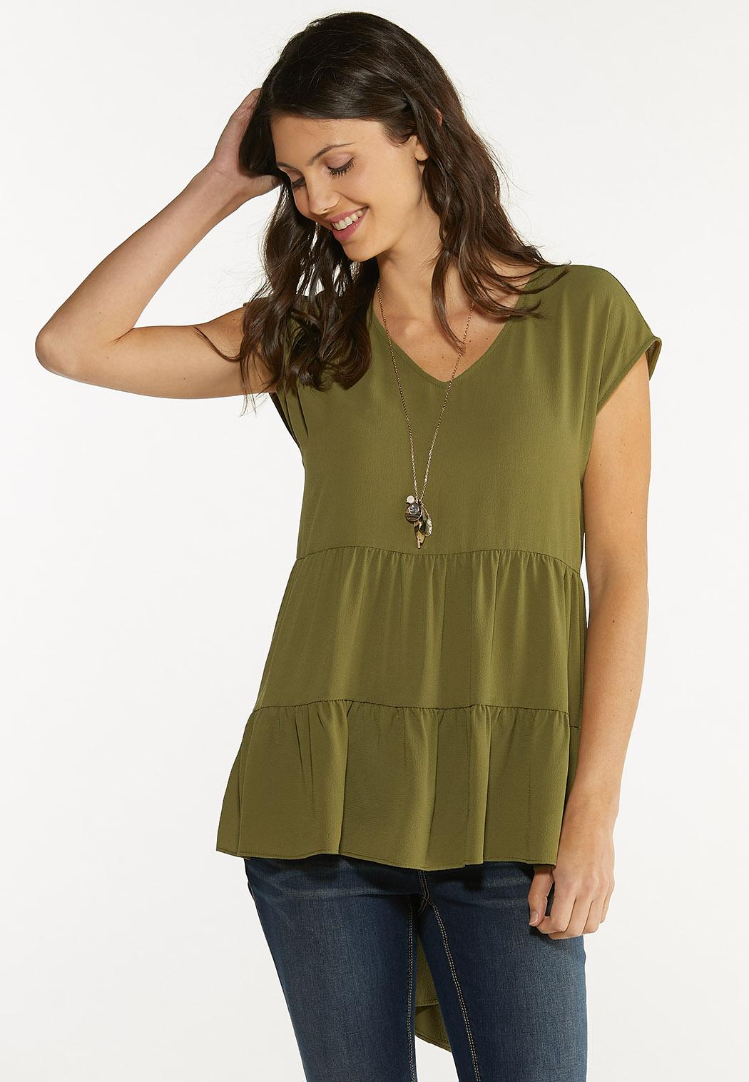 Plus Size Tiered High-Low Tunic