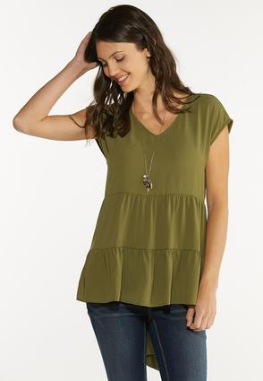 Plus Size Tiered High- Low Tunic