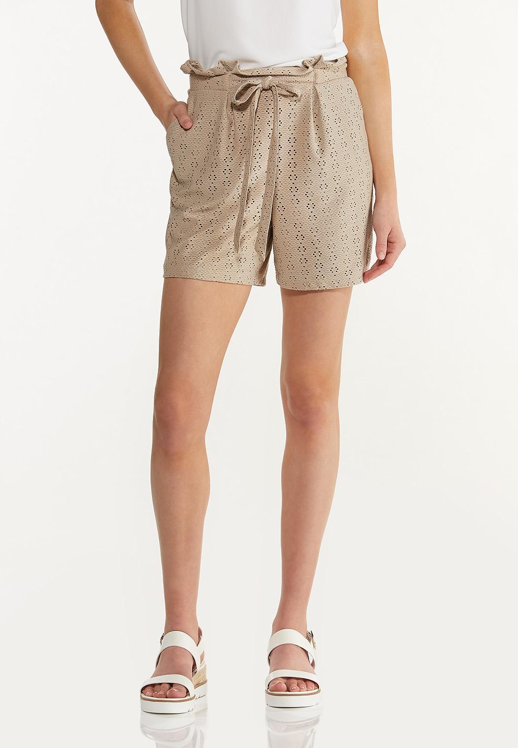 Eyelet Knit Shorts